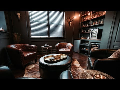 NEW Cigar Room Tour!! | Man Cave Cigar And Whiskey Lounge