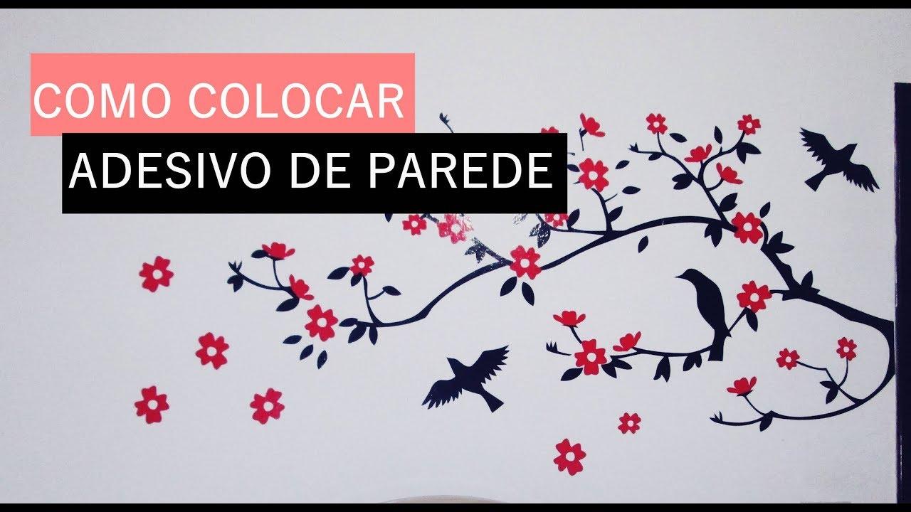 Artesanato Em Eva Como Fazer ~ COMO COLOCAR ADESIVO DE PAREDE  YouTube