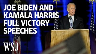 Joe Biden and Kamala Harris Full Victory Speeches | WSJ