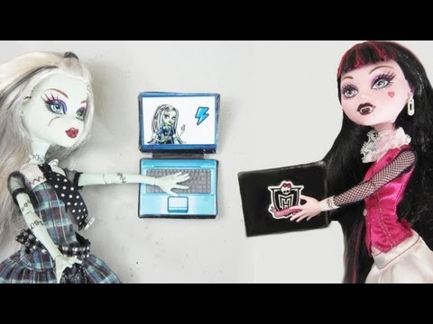 How to Make a Doll Laptop Computer - Doll Crafts - simplekidscrafts - simplekidscrafts