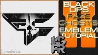 COD Ghosts Custom Faze Clan Logo : Call Of Duty Black Ops 2 Emblem Tutorial