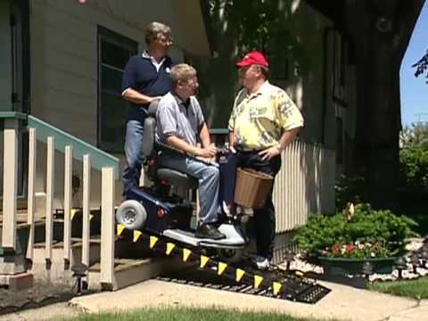 Roll A Ramp System for Wheel Chairs, Scooters & Power Chairs