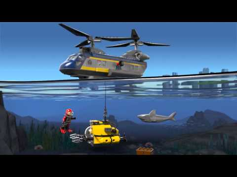 Lego 60093 | Deep Sea Explorers | Deep Sea Helicopter | 3D Review