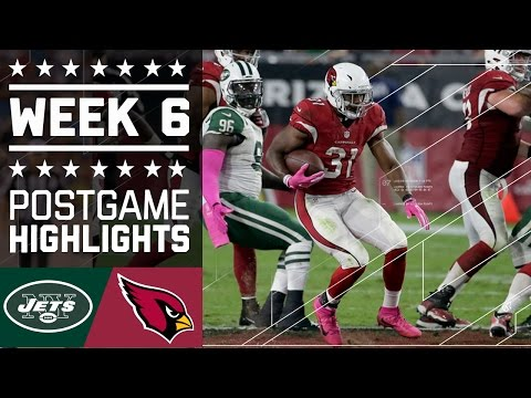 Jets vs. Cardinals | NFL Week 6 Game Highlights