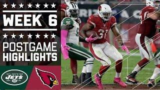 Jets vs. Cardinals | NFL Week 6 Game Highlights