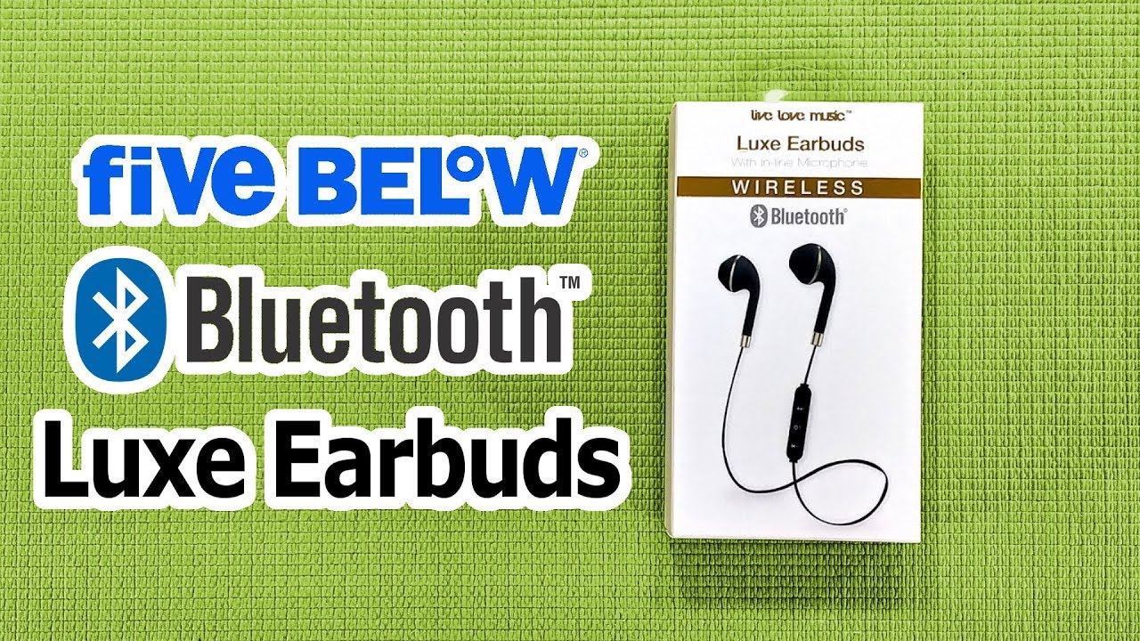 a17271343b9 $5 Bluetooth Luxe Earbuds from Five Below - Budget Buys Ep. 14 - YouTube