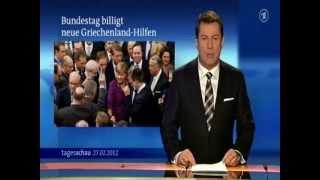 Wolfgang Schäuble spielt Sudoku im Bundestag 27.02.2012