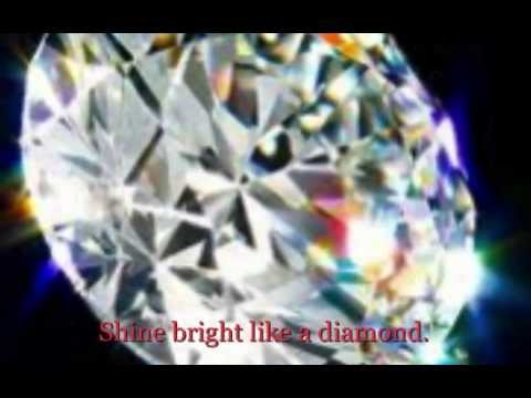 Rihanna: DIAMONDS - Shine Bright Like a Diamond music video (Diamonds Lyrics on screen)