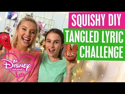 DISNEY CHANNEL VLOG | SQUISHY DIY | TANGLED LYRICS CHALLENGE