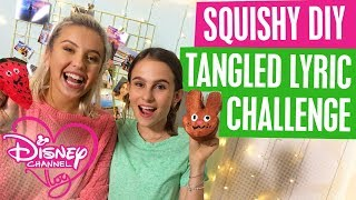 DISNEY CHANNEL VLOG | SQUISHY DIY | TANGLED LYRICS CHALLENGE