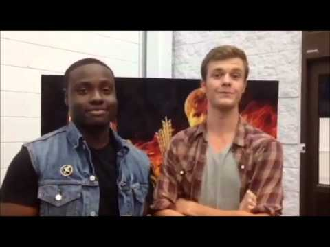 Dayo Okeniyi and Jack Quaid at 'The Hunger Games' Midnight Release Party