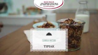 Recette Granola cramberries, chapelure, riz, avoine, chocolat noir - TIPIAK