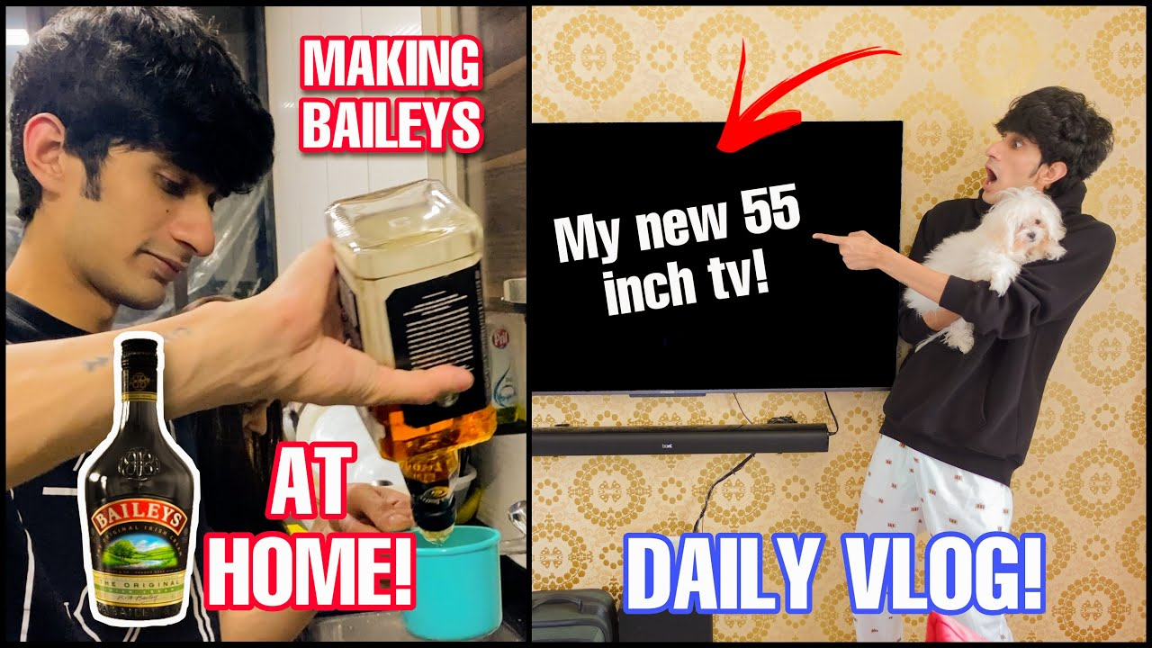Download Making BAILEY'S Irish cream AT HOME & Upgrading my room theatre with a 4K TV! || Jake Sitlani