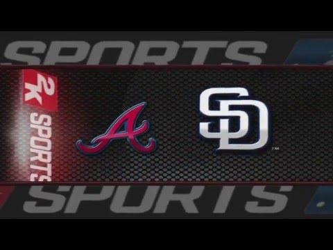 MLB 2K8 Franchise Episode 2 Atlanta Braves Vs San Diego Padres