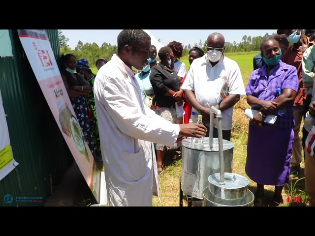 Hand Sanitizer : Production from farm waste distillation