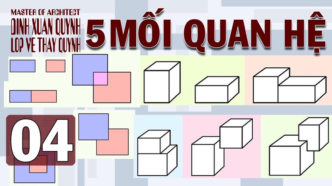 5 mối quan hệ của hình và khối – bố cục tạo hình (mt2 kiến trúc)