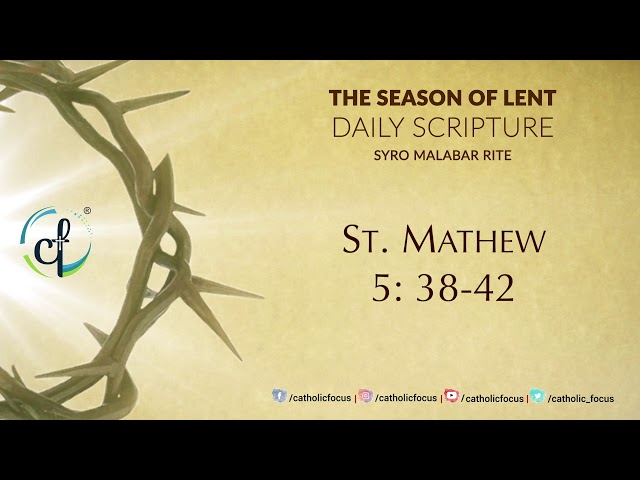 Daily Gospel Reading || Syro Malabar || 25th Feb || Great Lent