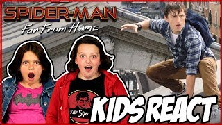 Kids react to Spiderman Far From Home trailer!