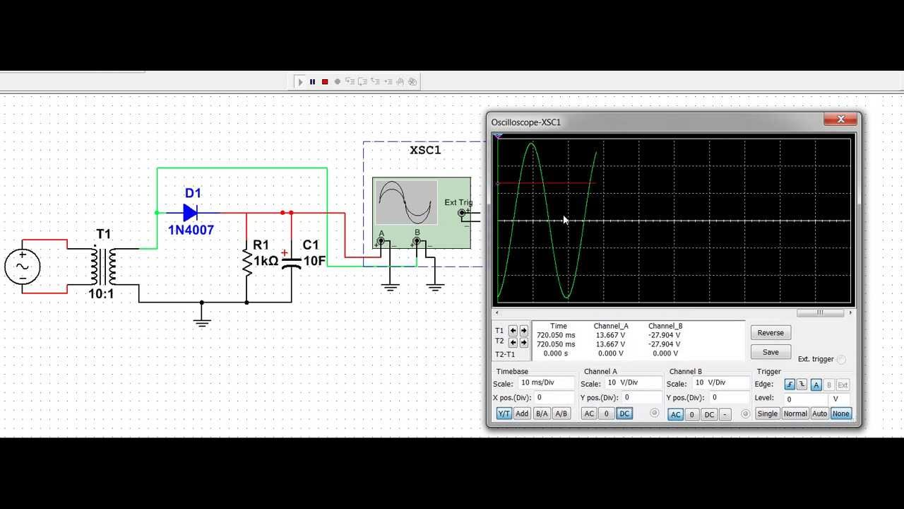 Half Wave Rectifier Circuit Simulation Youtube Digital Voltmeter Diagram