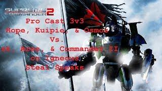 Supreme Commander 2 3v3 Hope, Kuipie, & Osmos Vs. sk, Ares, & Commander II
