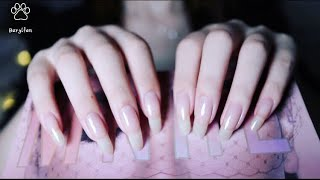 🎧ASMR,tapping and scratching with my natural long nails💅🏻relaxing,sleeping.