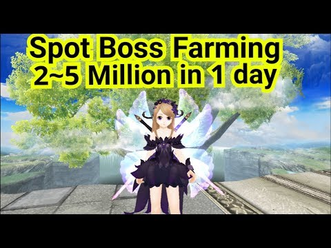 Toram Online ~ Spot Farming Boss Get 2~5Million In 1 Day( Up To 150k/Run )