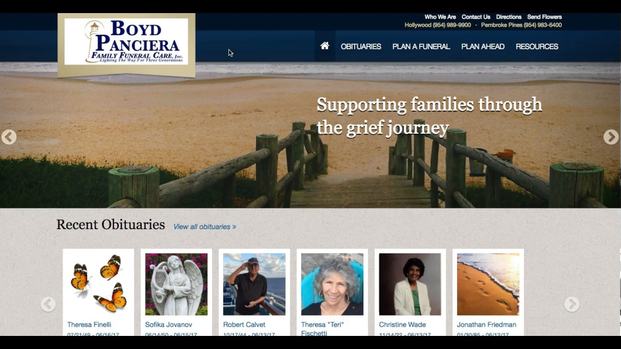 funeral homes hollywood fl boyd panciera family funeral care