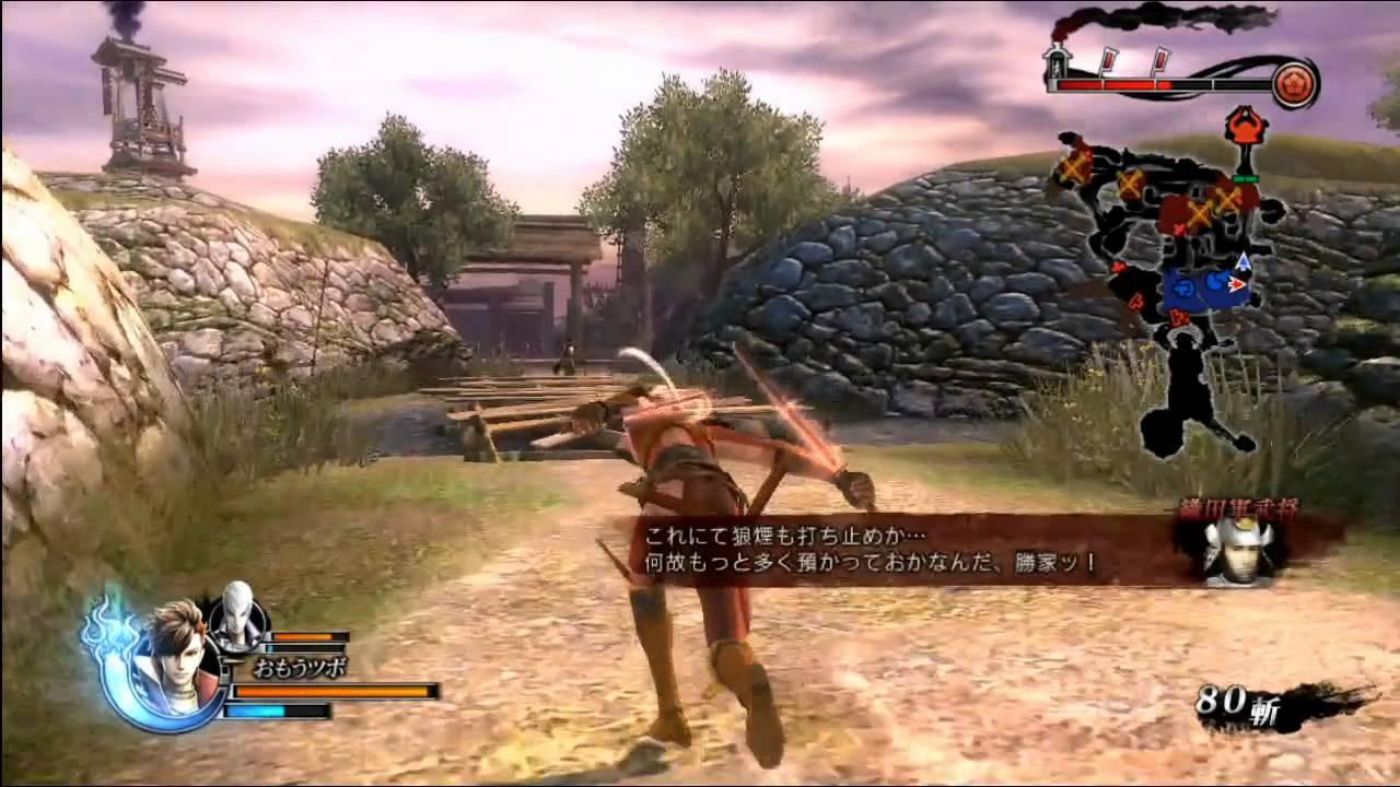 Sengoku BASARA 4 - Shima Sakon gameplay - YouTube