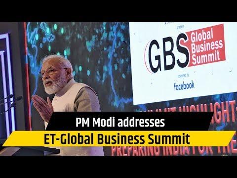 PM Modi addresses ET-Global Business Summit