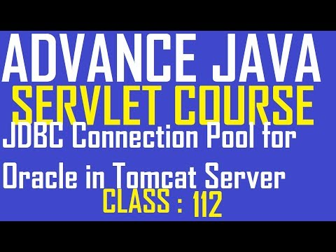 112 Create JDBC Connection Pool For Oracle In Tomcat Server  Advance Java Servlet Tutorial