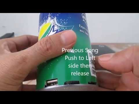 Soft Drink Can Shaped Multimedia MP3 Speaker & Player