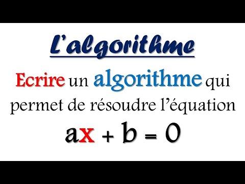 Exercice sur l'algorithme