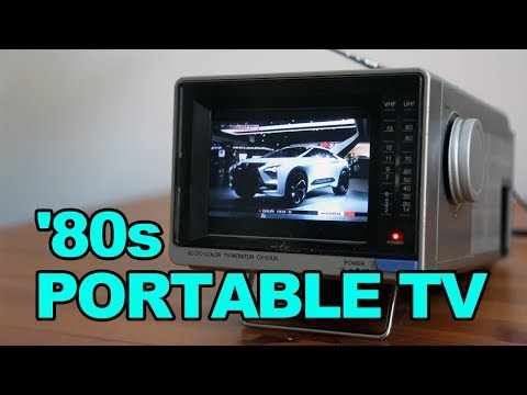 '80s PORTABLE TV  One Man's Trash is Another Man's Treasure