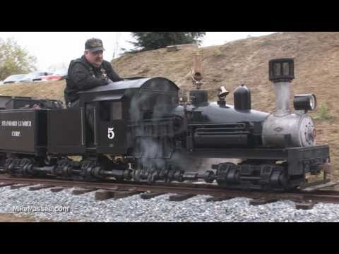 15 gauge live steam Shay at Hillcrest Wahtoke Railroad