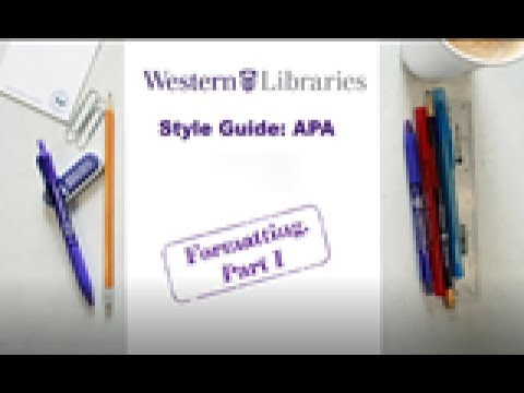 APA Style Guide Formatting I: Title pages, margins, and fonts