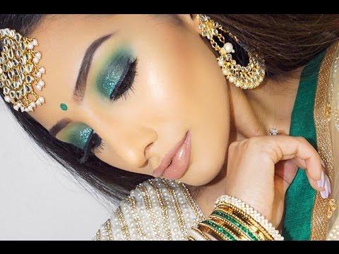 Indian Wedding Makeup - Green Smokey Eye