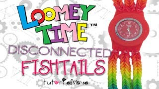 EASY Disconnected Fishtails Loomey Time Watch Rainbow Loom Tutorial | How To