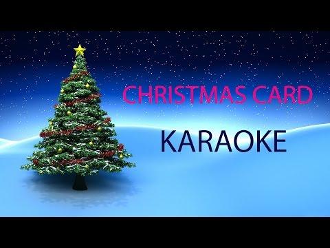 CHRISTMAS CARD - KARAOKE