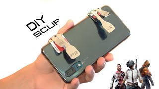 DIY 4 BUTTONS SCUF for mobile games (PUBG Mobile/Fortnite/free fire)