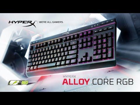 Обзор мембранной игровой клавиатуры HyperX Alloy Core RGB