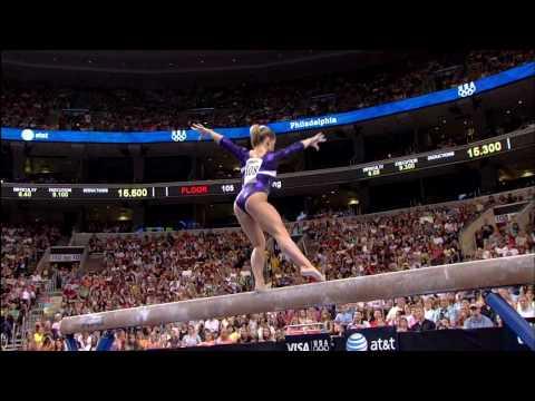 Shawn Johnson - Balance Beam - 2008 Olympic Trials - Day 2