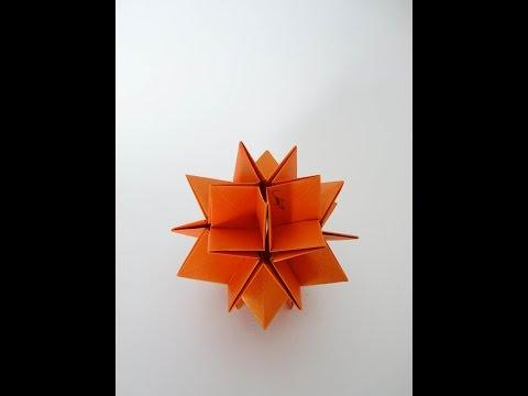 Origami Modular-kusudama Sunken Silver Star( David Brill)