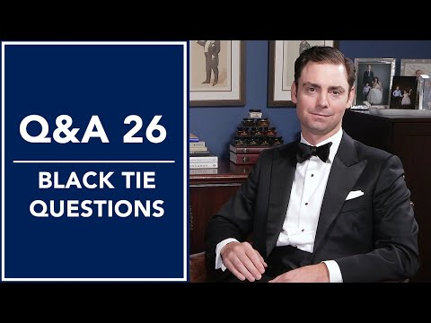 Black Tie 🤵, Tuxedo Shirts Do's and Don'ts, And More - Q&A 26 | Kirby Allison
