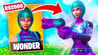 I got the MOST EXPENSIVE skin of FORTNITE for FREE (Wonder)