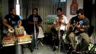 Nepali Fusion Music - Rudra Band with Manoj Kumar KC (1974 AD guitarist) & Shyam Nepali (Sarangi)