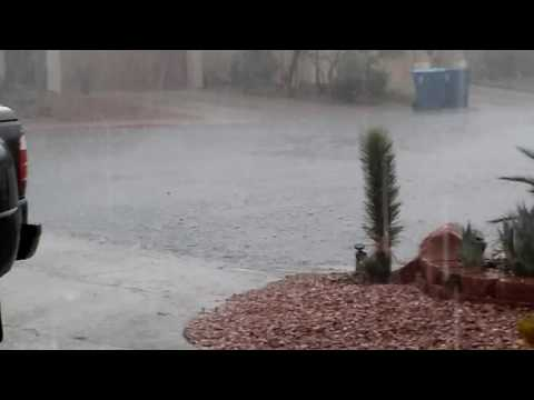 Now this is a flash flood hail storm in Vegas..