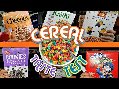 HUGE AMERICAN/CANADIAN BREAKFAST CEREALS TASTE TEST   NEW and LIMITED EDITION CEREAL!!!