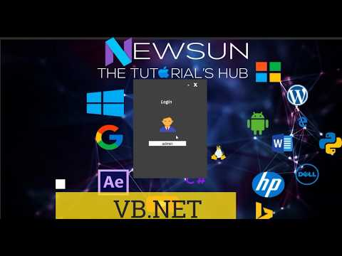 VB.Net , C# - Animated Login System | Flat Design | Open source Code Download