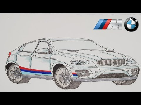 Cum Se Deseneaza O Masina Cum Sa Desenezi Un Bmw X6 Desenez Si Colorez