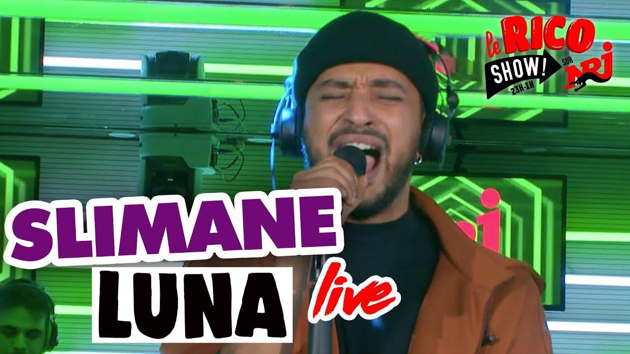 """Live de Slimane """"Luna"""" dans le Rico Show sur NRJ"""